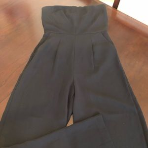 Forever 21 Black Strapless Jumpsuit, Size M